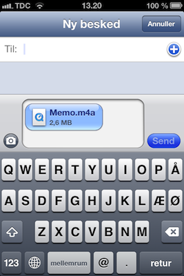 optage lyd på iphone