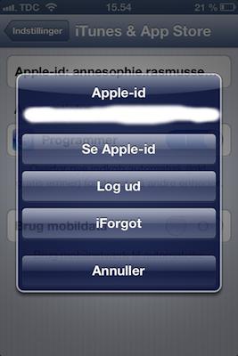 Sådan ændrer du dit Apple ID - iPhoneluppen.dk