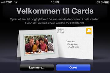 Cards - velkommen
