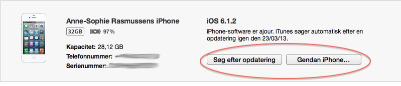sikkerhedskopiering af iphone 4