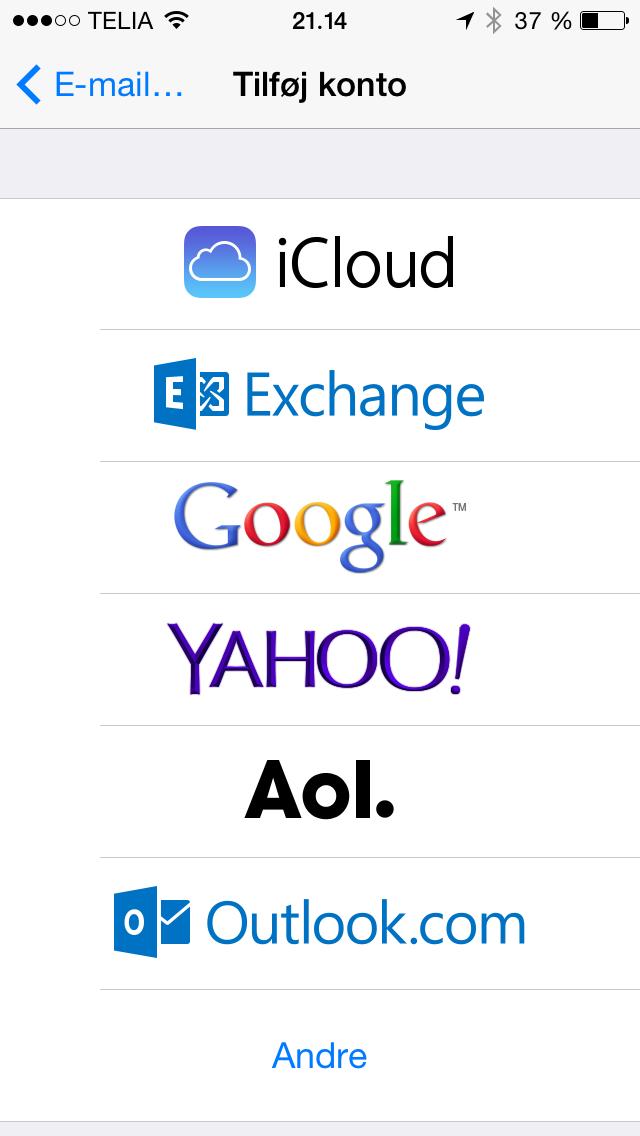 mail på ipad virker ikke