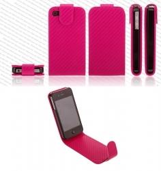 Carbon Flip-cover til iPhone 4/4S