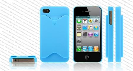 Cover med kreditkortholder til iPhone 4/4S