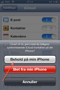 Behold på min iPhone