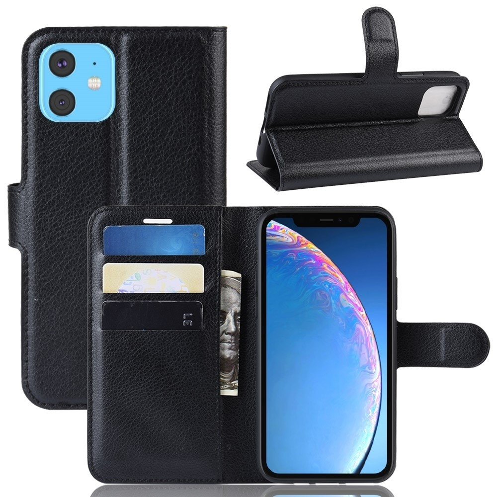 iphone 11 læder cover med kortholder