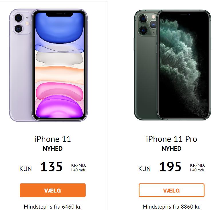 iphone 11 tilbud