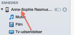 Gendan kontakter via iTunes